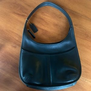Vintage Coach Black Leather Ergo Hobo Purse (9033)